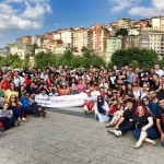 The group photo taken at the Miniaturk Parc during the SWYAA Global Assembly in Turkey 2014