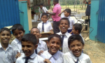 "A few of the children from the ""One more child goes to school-project (in Sri Lanka). Our donation has contributed to equip the school with furniture according to reports from the project."