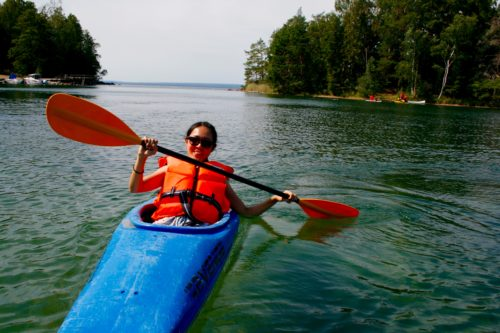Canoing was one of the most popular activities on lake Vättern. Photo Carolina Hawranek
